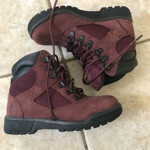 TIMBERLAND 6 INCH RED TODDLERS BOOTS PREMIUM LEATHER INFANT SIZE 6 7 8 9 BNIB